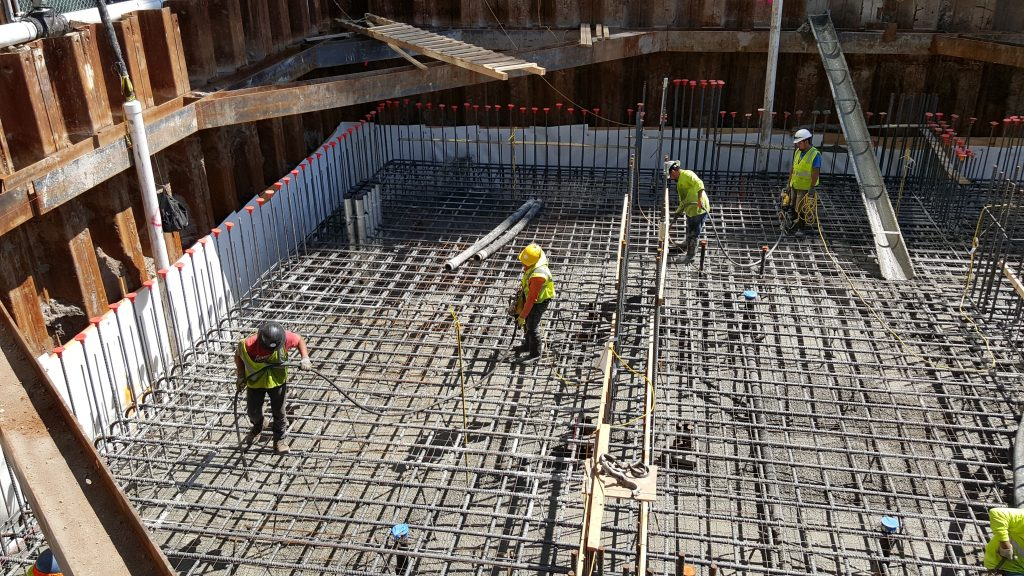 First Major Concrete Pour for Foundation at 151 Maiden Lane