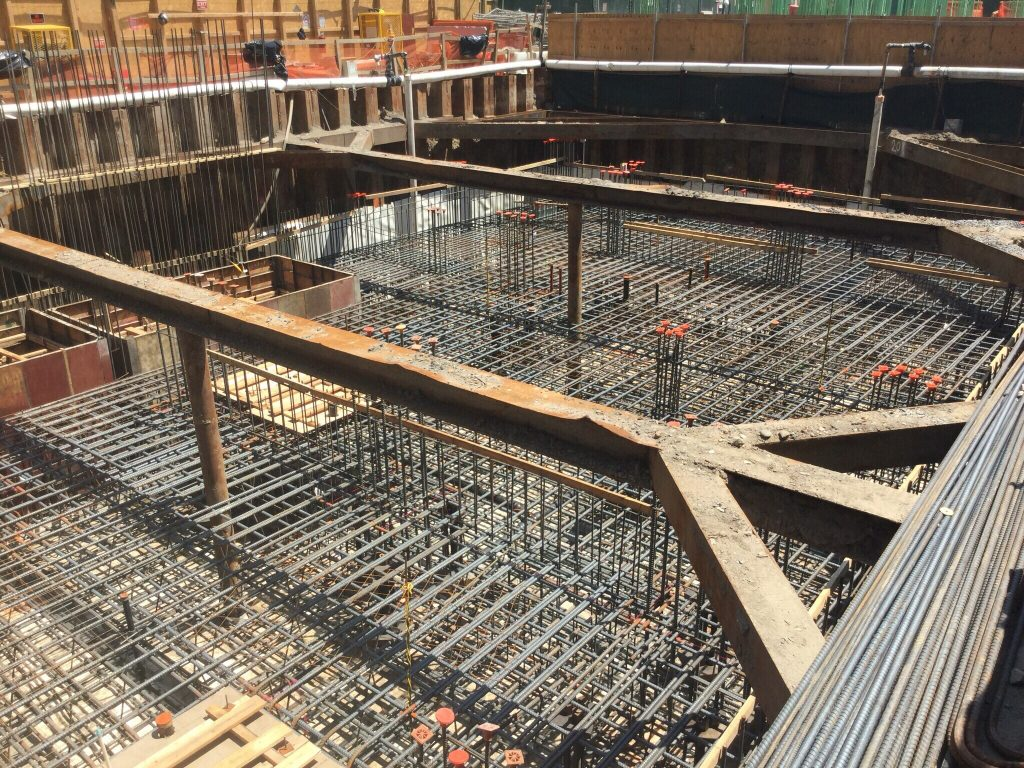 Final Mat Slab Concrete Pour for 151 Maiden Lane