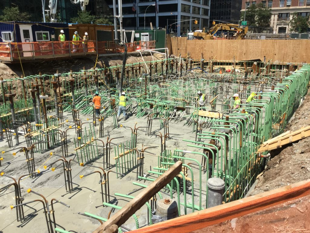 First Major Concrete Pour for Foundation at 1 Seaport